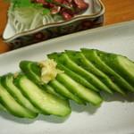 竹の子 - キュウリの漬物
