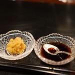 五明 gomei - ステーキの薬味と醤油