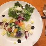 ビストロ 山.海.葉っぱ - 【18.12】今日のサラダ:季節野菜のテリーヌ?