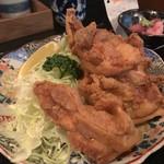 新橋 炉ばたや - 鶏の唐揚げ定食1,000円の唐揚げのアップ