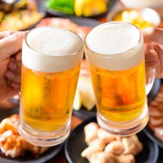 生ビール・サワー・ハイボールなど、ドリンクも種類豊富!