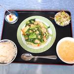 漢謝園 - 青菜の卵炒め定食