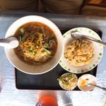 漢謝園 - ザーサイラーメン定食