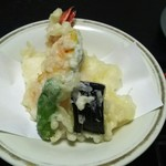 Hachikou - 昼膳の天ぷら