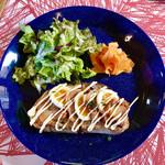 カフェ プイスト - 料理写真:オープンサンド 照り焼きチキン