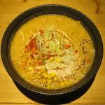 札幌らーめん獅子王 - 濃厚味噌らーめん 麺大盛り
