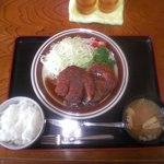 安国屋 - ポークステーキ定食