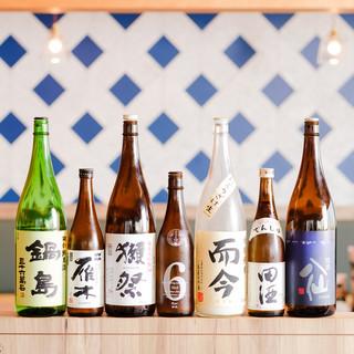 旨い魚には旨い日本酒!お気に入りの一杯を見つけてください♪