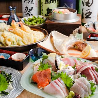 鮮魚と美酒を心ゆくまで♪宴はやっぱり充実のコースプランで!