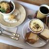 ポムメリィ - 料理写真:クリームチキン〜黒こしょう風味 かぼちゃのグラタン〜パン付き♬