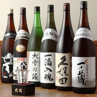 お刺身に合う日本酒を豊富に取り揃えております♪