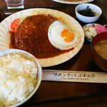 プれンテイ - 特製ジャンボハンバーグセット¥1580