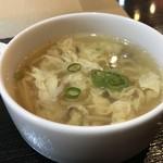 ハッカク - たまごとキノコの中華スープ(2018.12.14)