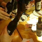 98429772 - 瓶ビールそのままで、乾杯!
