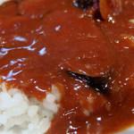 カレーハウス キラリ - なすカレー(600円)+生玉子(14時以降サービス)