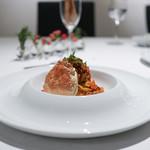 イル コラッツィエーレ - 香箱蟹まるごと1杯とイクラのトマトソース 手打ちタリアテッレ☆