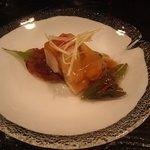 酒盃 - 金目鯛の煮こごりとじゅんさい
