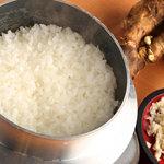 KUSHIYAKI DINING おかげさん - 料理写真:北海道の山わさびで食べる、「釜炊き わさび飯」。