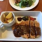 Cafe Restaurant Lavender - メインのポークカツ