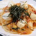 98444560 - 揚げもち入り野菜のトマトソーススパゲッティー(チーズ入り)