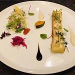 レストラン タガミ - 前菜は、サツマイモのキッシュ!