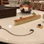 レストラン タガミ - デザートのチョコレートケーキか濃厚です❤️