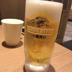 夢庵 - 生ビール