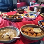縄文村 - 手作りの野菜料理がたくさん。 好きなものを取って頂きます。