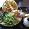 大地のうどん - 料理写真:かきあげぶっかけ650円 大盛り100円