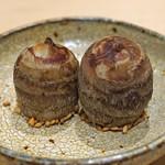鮨 はしもと - 海老芋 胡麻と塩で