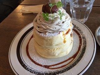 トタンコットンカフェ - カラメルマロンパンケーキ