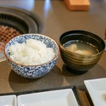 焼肉 炭こう - ☆ご飯とスープ