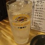 ホルモン焼肉 肉の大山 - 生レモンサワー 518円