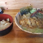 しあわせラーメン 金の糸 - パーコー麺とバラ丼