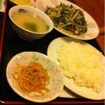 9848353 - レバニラ炒め定食