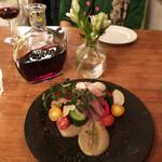 ニド・カフェ - 鯵のマリネと三浦産の根菜