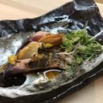 羽田市場 ギンザセブン - 甑島産スマガツオの藁焼き