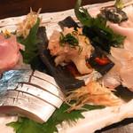 98486953 - セキサバ、ハタ、カワハギ、ヒラメ、エンガワ                       どれも美味しい!