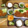 とんかつ柳 - 料理写真:ぞうりカツ定食&鶏の唐揚げ定食