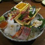 北の味紀行と地酒 北海道 - 「北海道大漁刺身盛り」です。