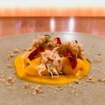 98493647 - 八幡浜産渡り蟹のほぐし身たっぷりの贅沢な一皿♡