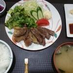 いわて門崎丑牧場 - 牛ロース定食1500円
