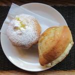 パン・ナガタ - 料理写真:練乳パン 130円、やわらかクリームチーズ 160円
