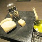 エゴジーヌ - バゲット チーズ オリーブオイル