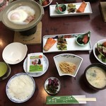 菊池温泉 清流荘 - 料理写真:朝食の準備が出来てる