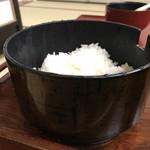 菊池温泉 清流荘 - ご飯は お櫃での提供