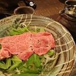 98506410 - 国産和牛しゃぶ肉のおうどん 1,200円