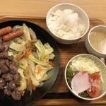 くつろ樹 - 料理写真:豚かしら塩焼き定食@780円
