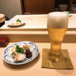 98515698 - お通し、生ビール