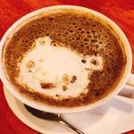 フジエダハウス - ほうじ茶ラテ…シュールです!